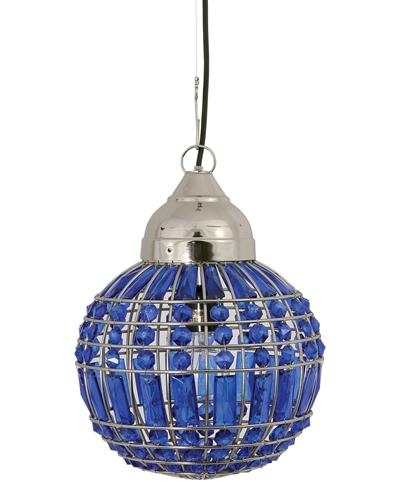 Marrakech Small Crystal Globe-Dark Blue
