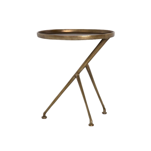 Marlow Schmidt Accent Table in Raw Brass