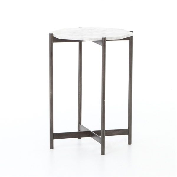 Adair Side Table in Hammered Grey