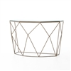 Marlow Geometric Console Table in Antique Brass