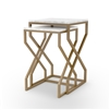 Denni Nesting Tables in Matte Brass