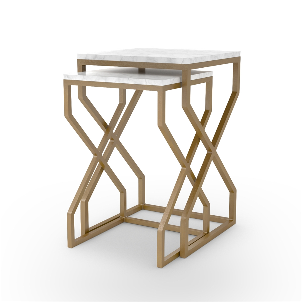 Denni Nesting Tables In Matte Br