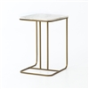 Marlow Adalley C Table in Polished White Marble