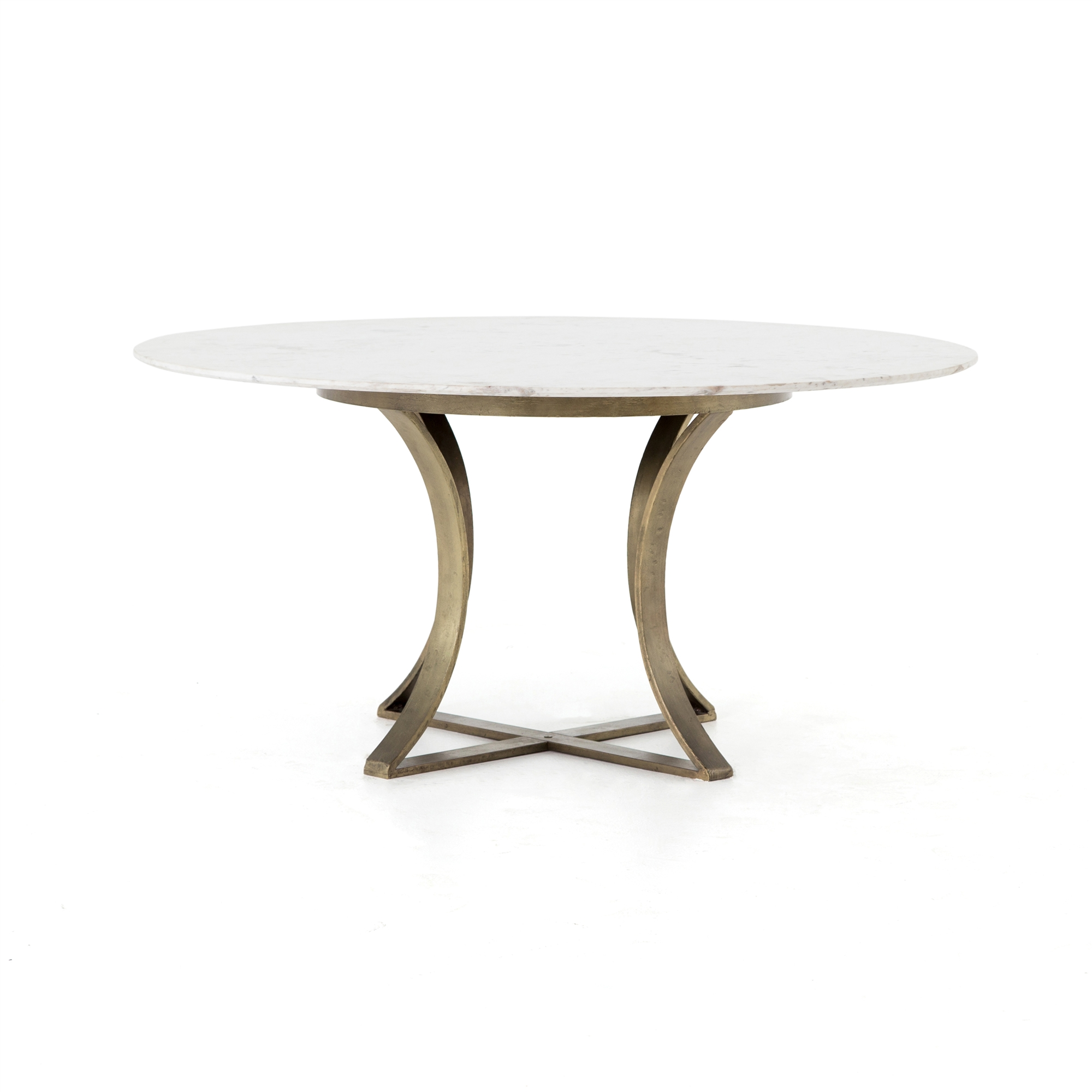Rockwell Gage Round Dining Table 60 With Marble Top The Khazana