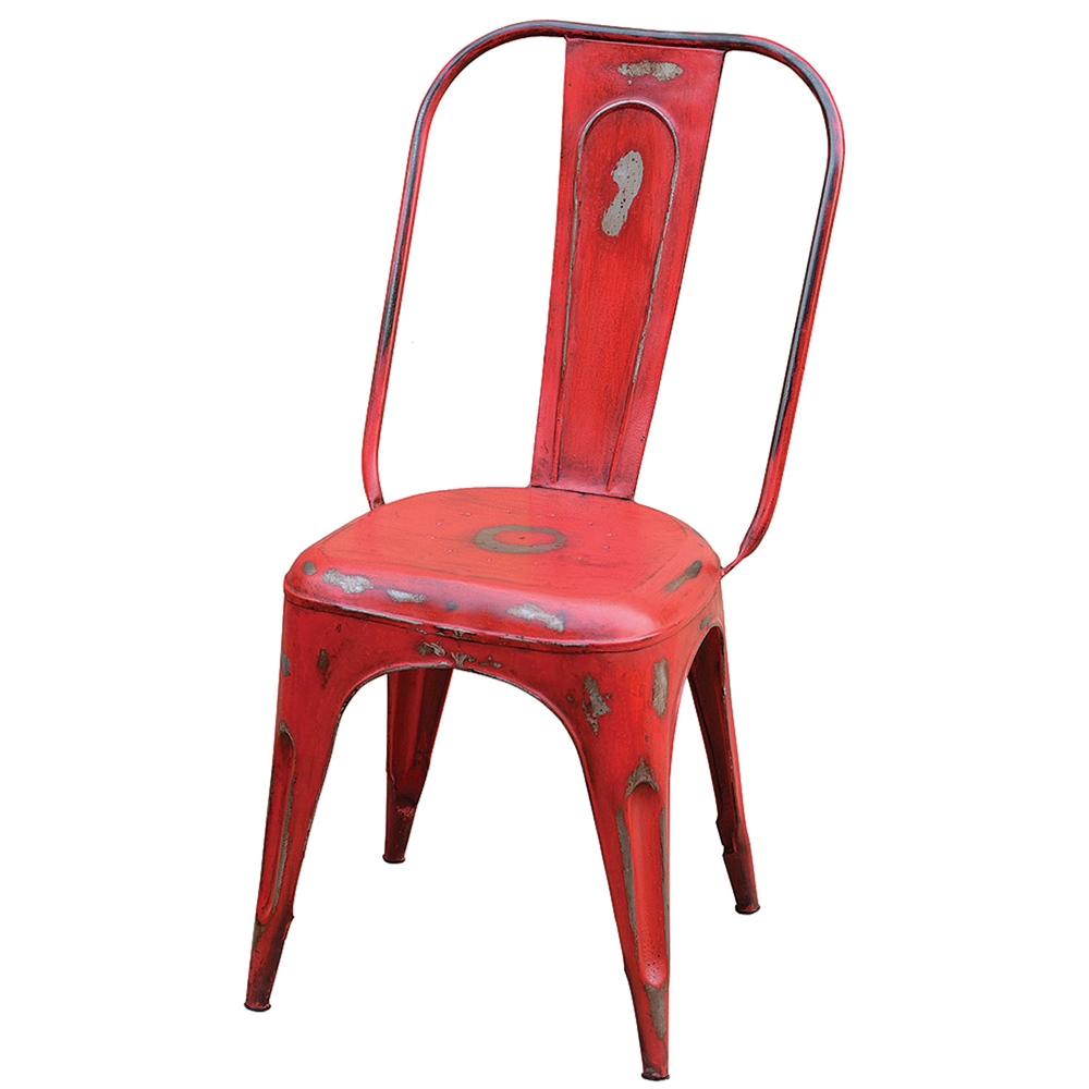 Charmant Rockwell Bistro Dining Chair Dark Red