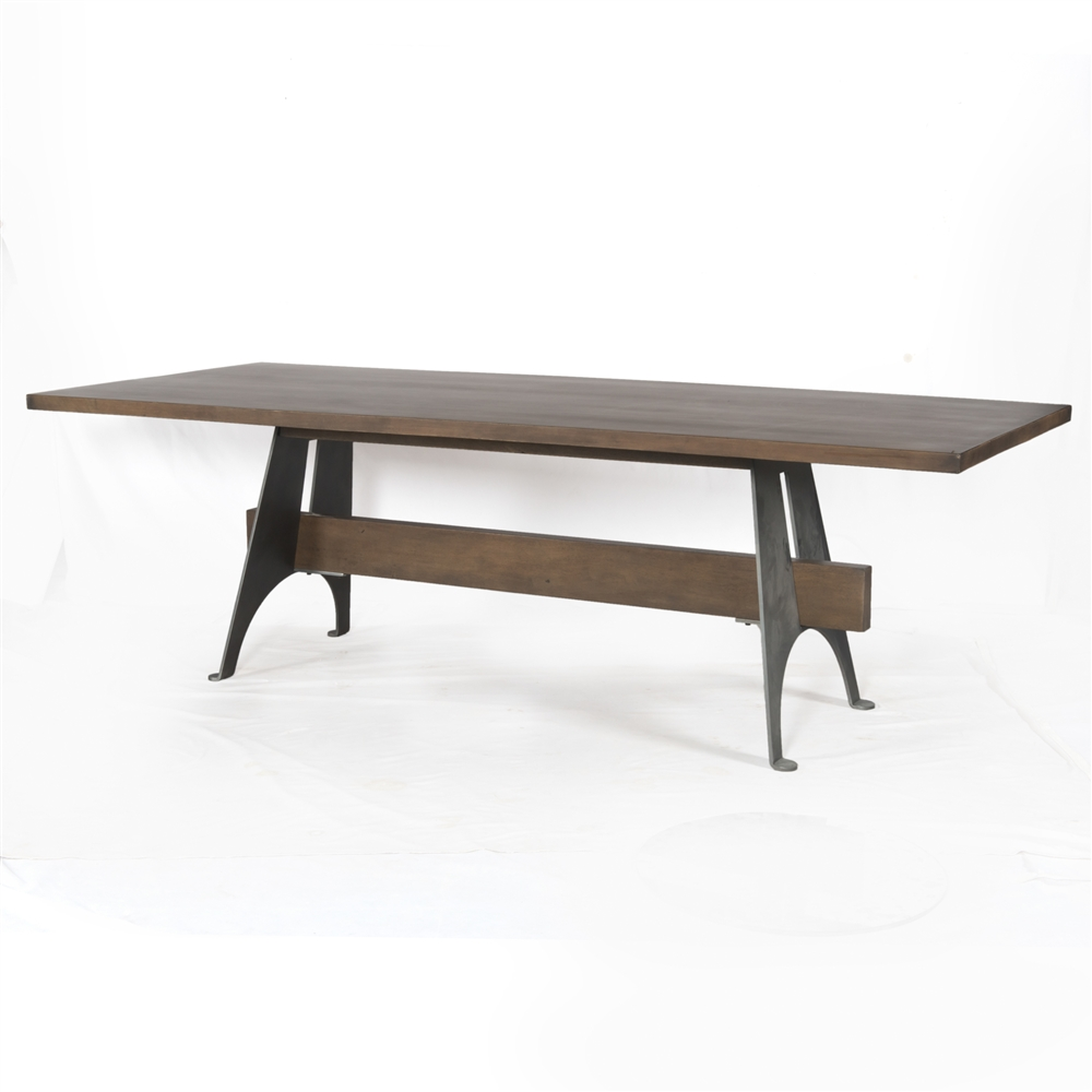 Mango Wood Metal Dining Table The Khazana Home Austin