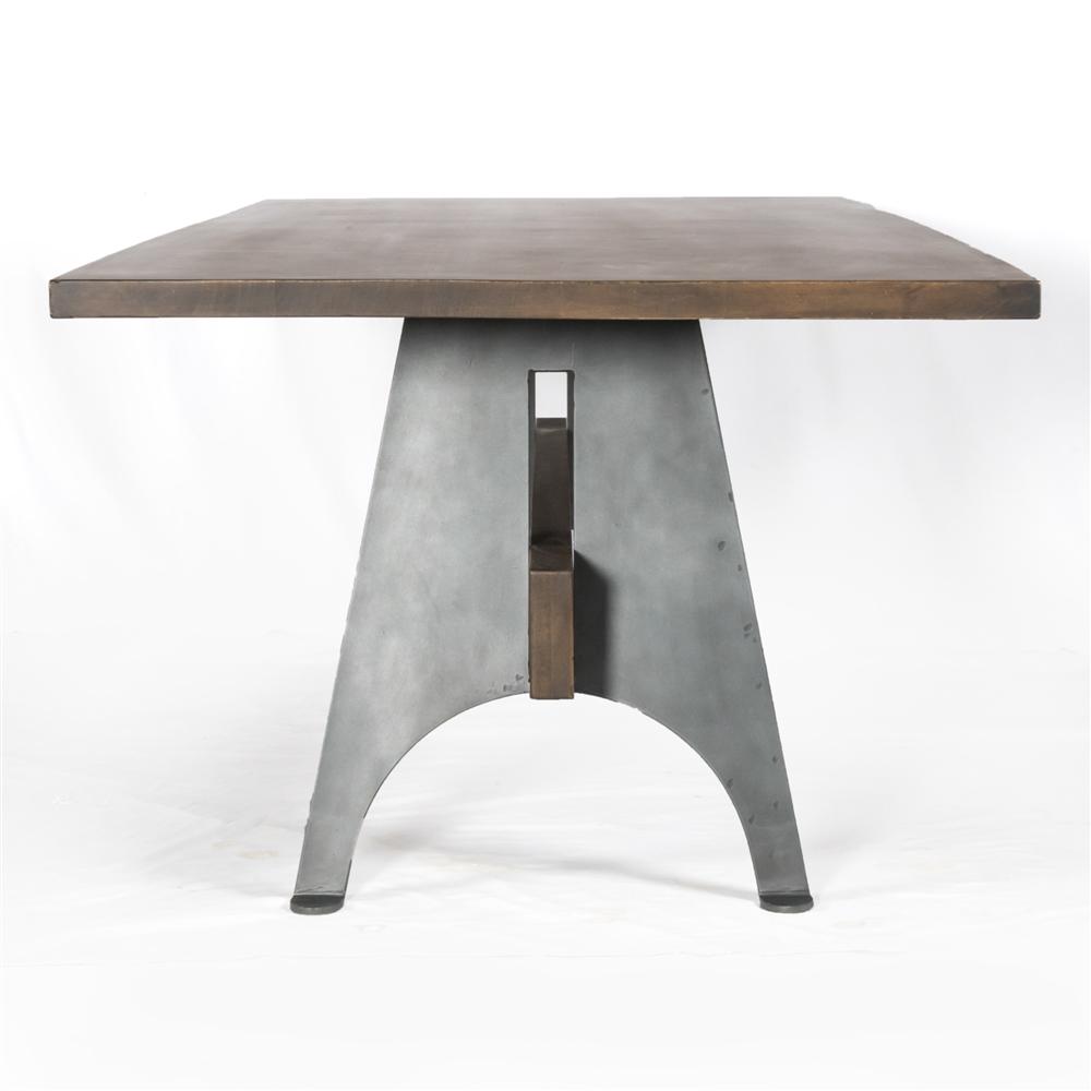 mango woodmetal dining table the khazana home austin furniture store - mango woodmetal dining table