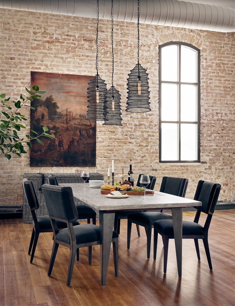 Theory Charcoal and Iron Dining Table, The Khazana Home Austin ...