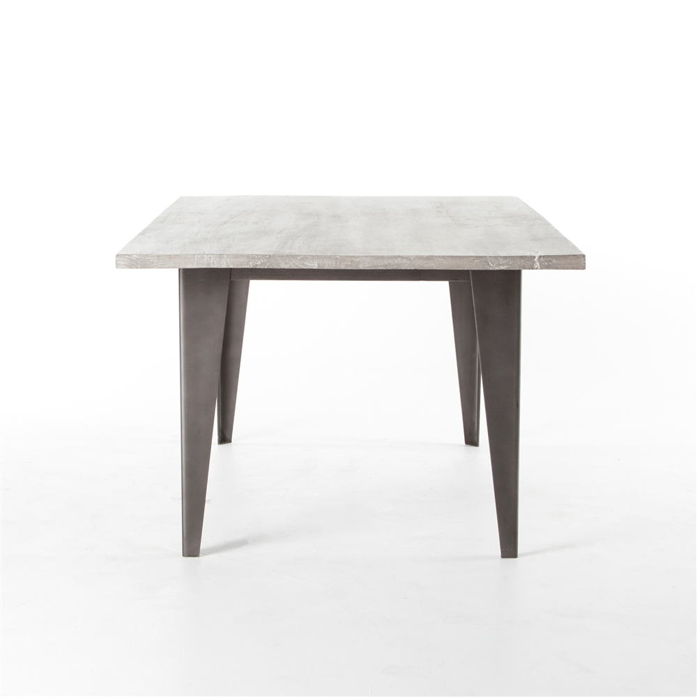 """theory charcoal and iron 74"""" dining table, the khazana home austin Charcoal Dining Table"""