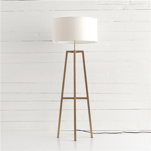 Sunset Lewis Floor Lamp in Brass