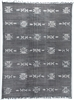 Cotton Tribal Rug, Faded Black 9' x 12'