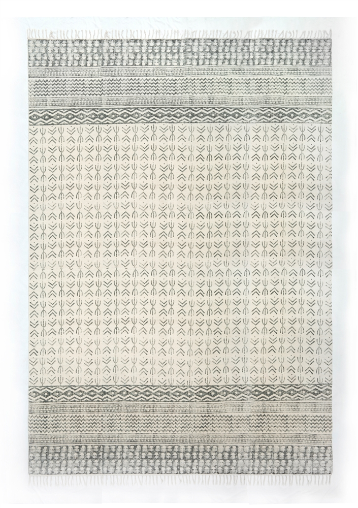Flat Weave Faded Stripe Rug 9u0027 X 12u0027