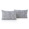 Faded Mosaic Print Bolster, Set of 2