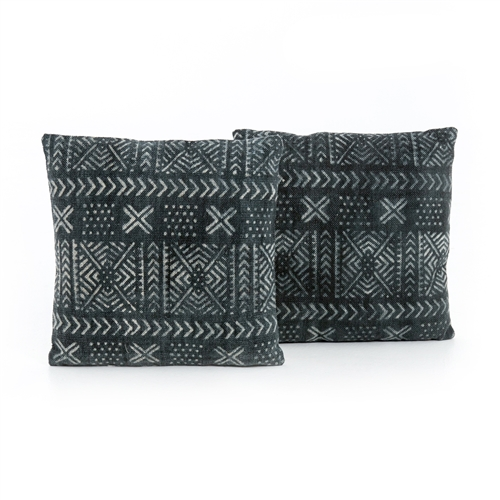 Mud Cloth Print Pillow, Set of 2
