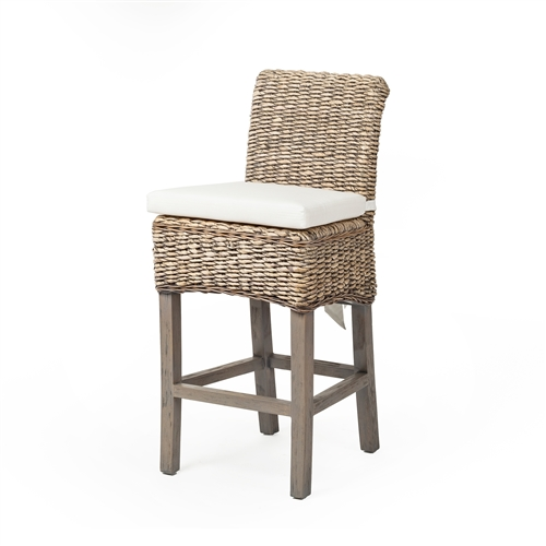 Grassroots Banana Leaf Counterstool in Grey Wash