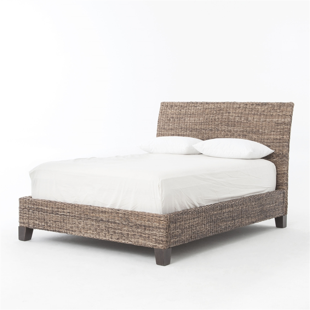 Lanai Banana Leaf Queen Bed, The Khazana Home Austin Furniture Store