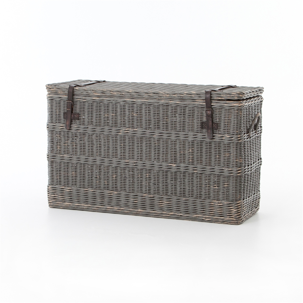 Theory wicker console trunk the khazana home austin furniture store theory wicker console trunk geotapseo Images