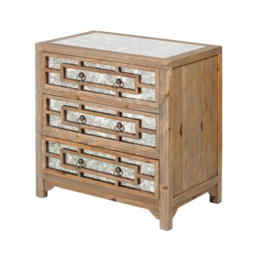 Dixon Glass Inlay 3 Drawer Dresser