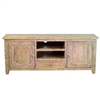 White Washed Mango Wood Media Console with Drawer