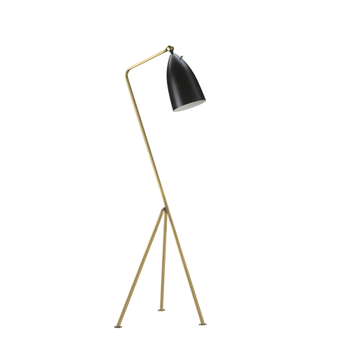 Grasshopper Adjustable Floor Lamp - Matte Black