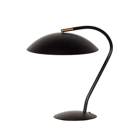Mid Century Modern Task Table Lamp - Matte Black