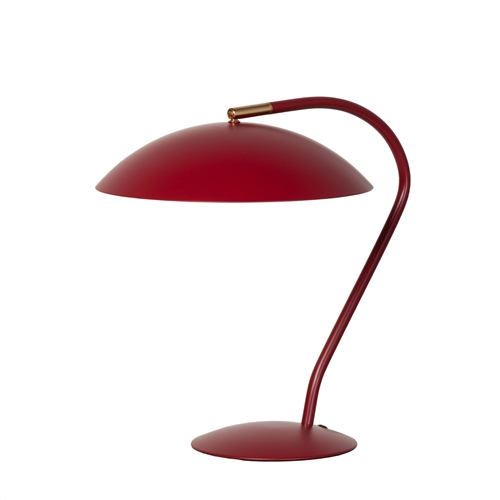 Mid Century Modern Task Table Lamp - Matte Red