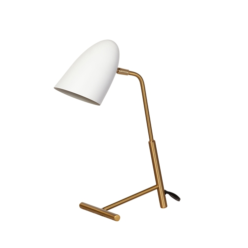 Curvilinear Table Lamp - Matte White