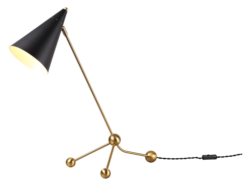 Illuminate Brass Desk Lamp - Matte Black