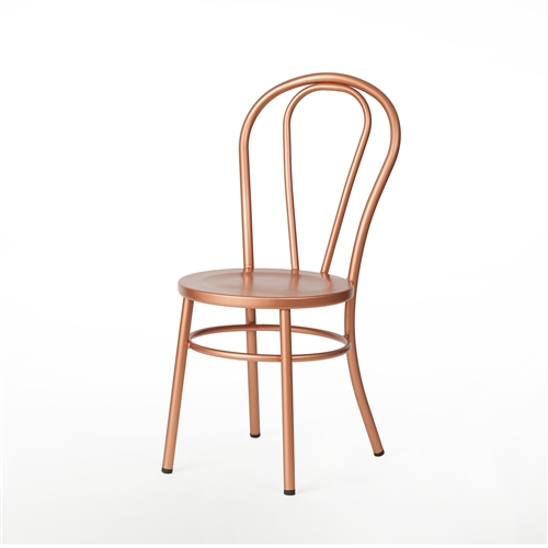 No. 18 French Cafe Style Side Chair  in Copper