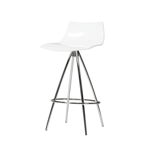 Calligaris Ice Style White Counter Stool