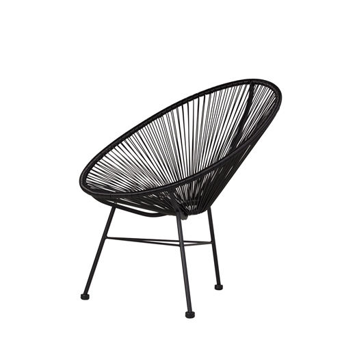 Acapulco Lounge Chair - Black