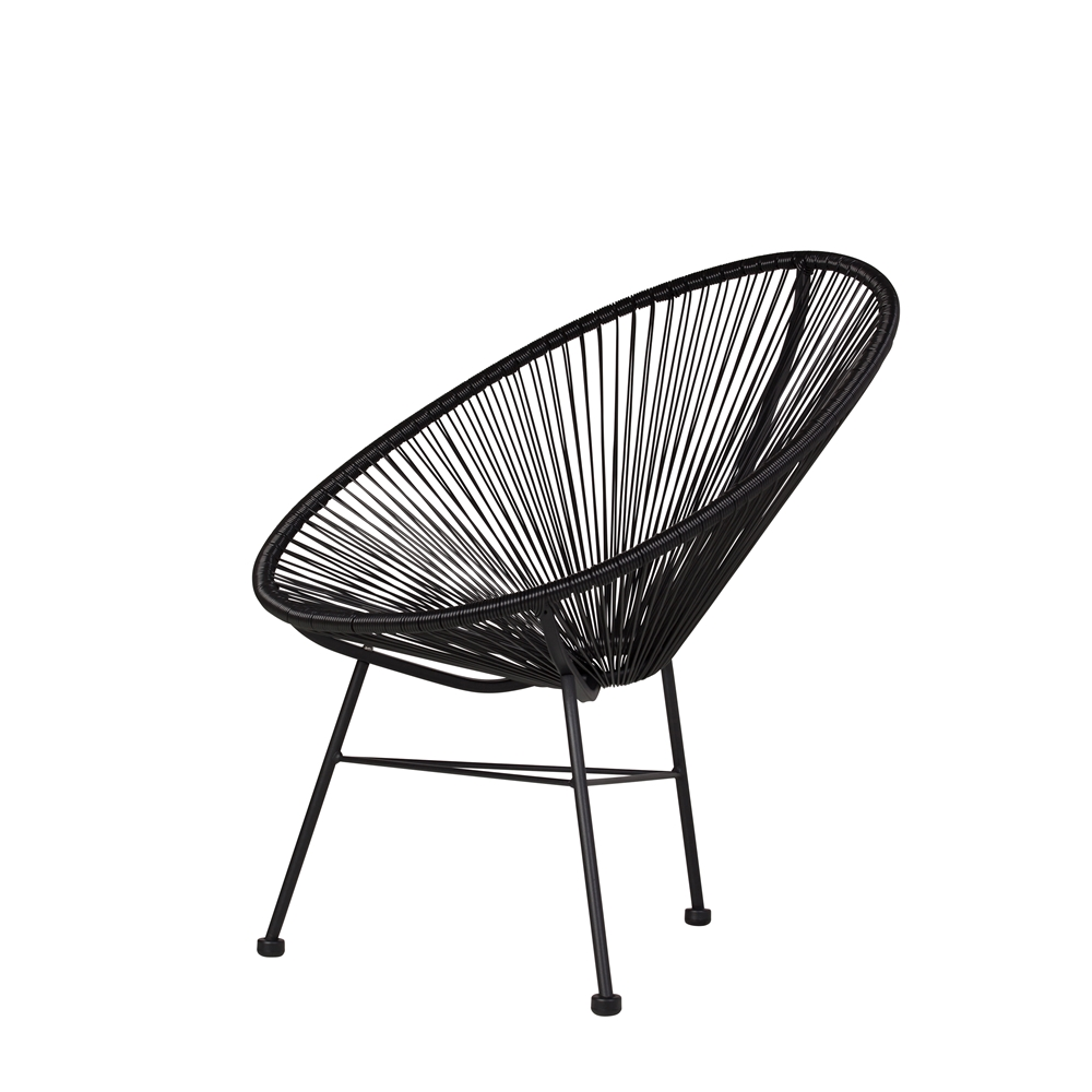 Stupendous Acapulco Lounge Chair In Black Caraccident5 Cool Chair Designs And Ideas Caraccident5Info