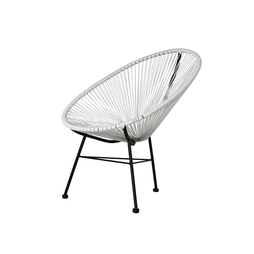 Acapulco Indoor / Outdoor Lounge Chair - White