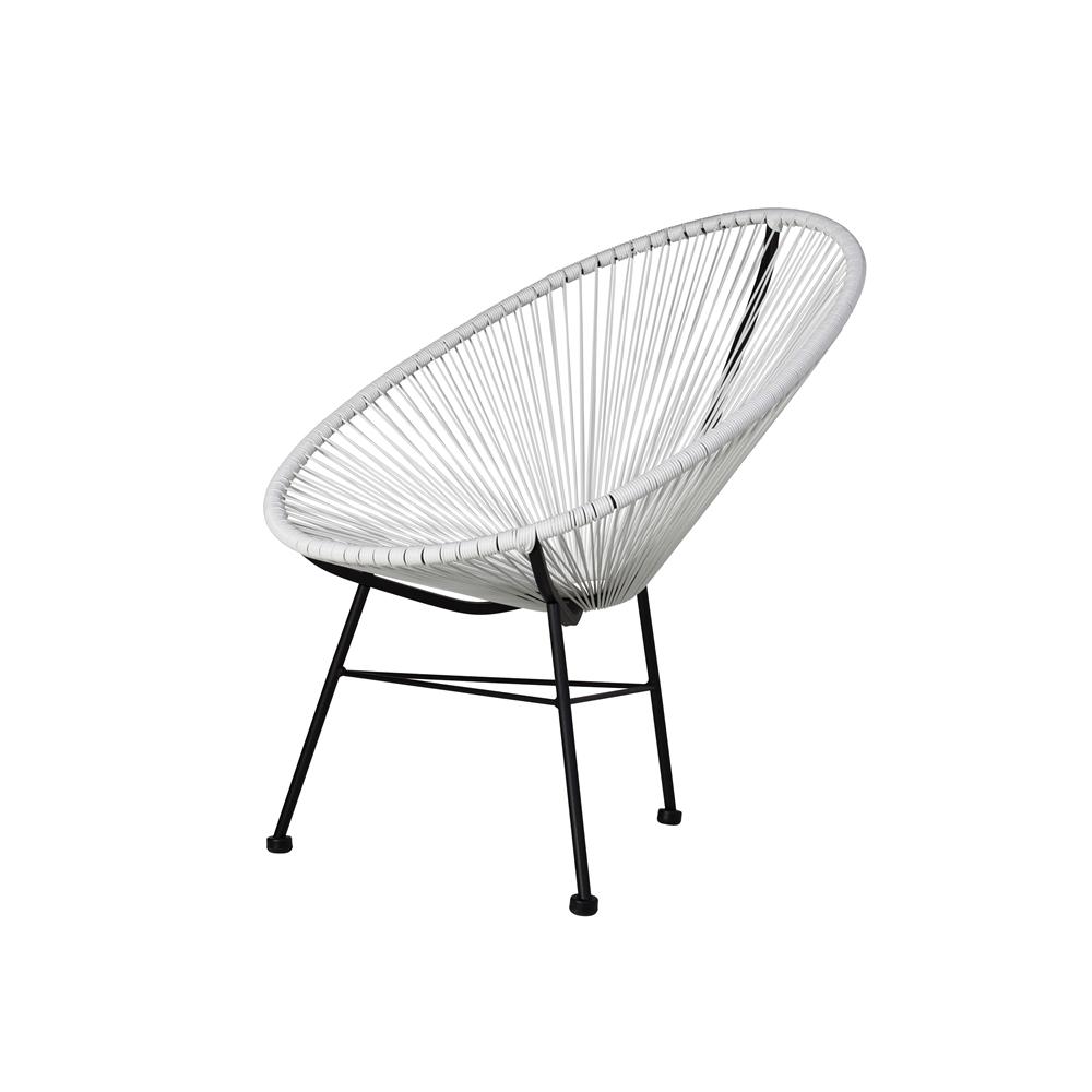 Acapulco Outdoor Lounge Chair White The Khazana Home