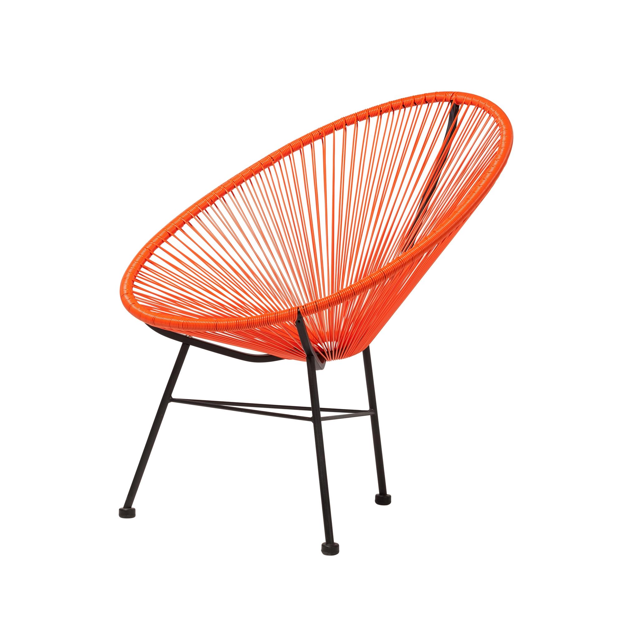 Lounge Stoel Retro.Acapulco Outdoor Lounge Chair Orange The Khazana Home