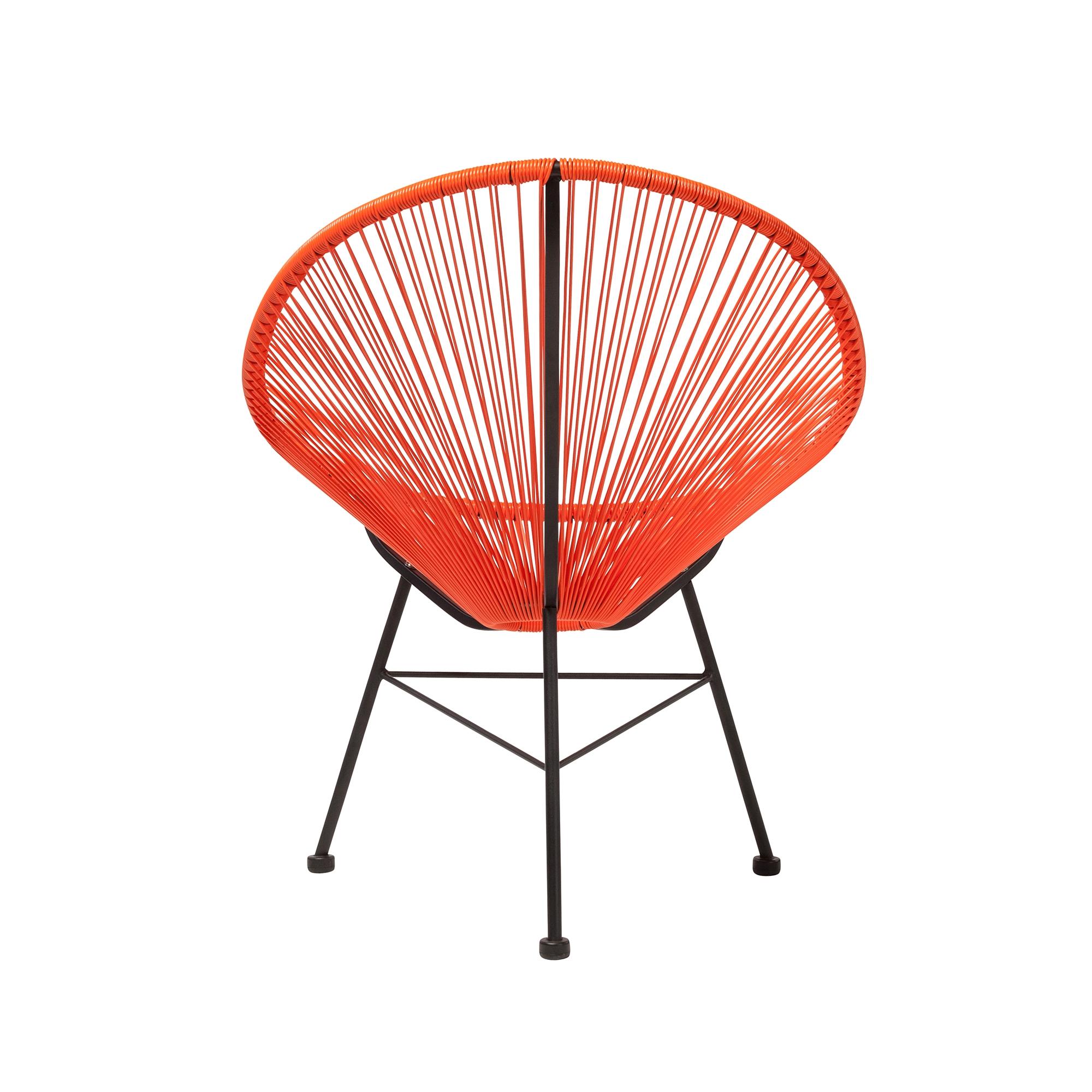 Lounge Stoel Retro.Acapulco Outdoor Lounge Chair Orange The Khazana Home Austin