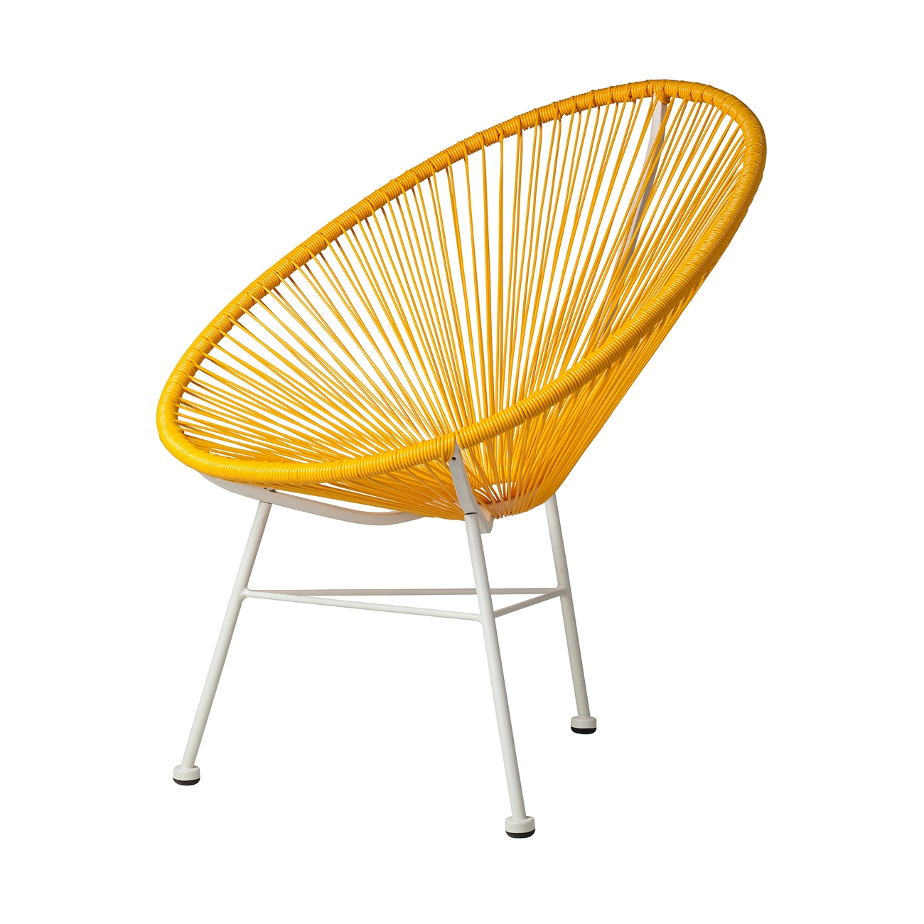 Acapulco Lounge Chair in Yellow, The Khazana Home Austin Furniture Store