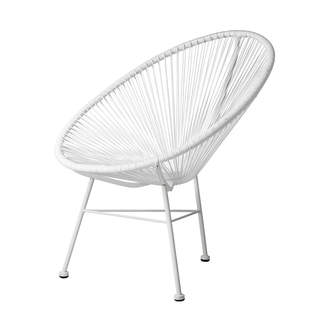 acapulco indoor outdoor lounge chair white weave on white frame - White Frame
