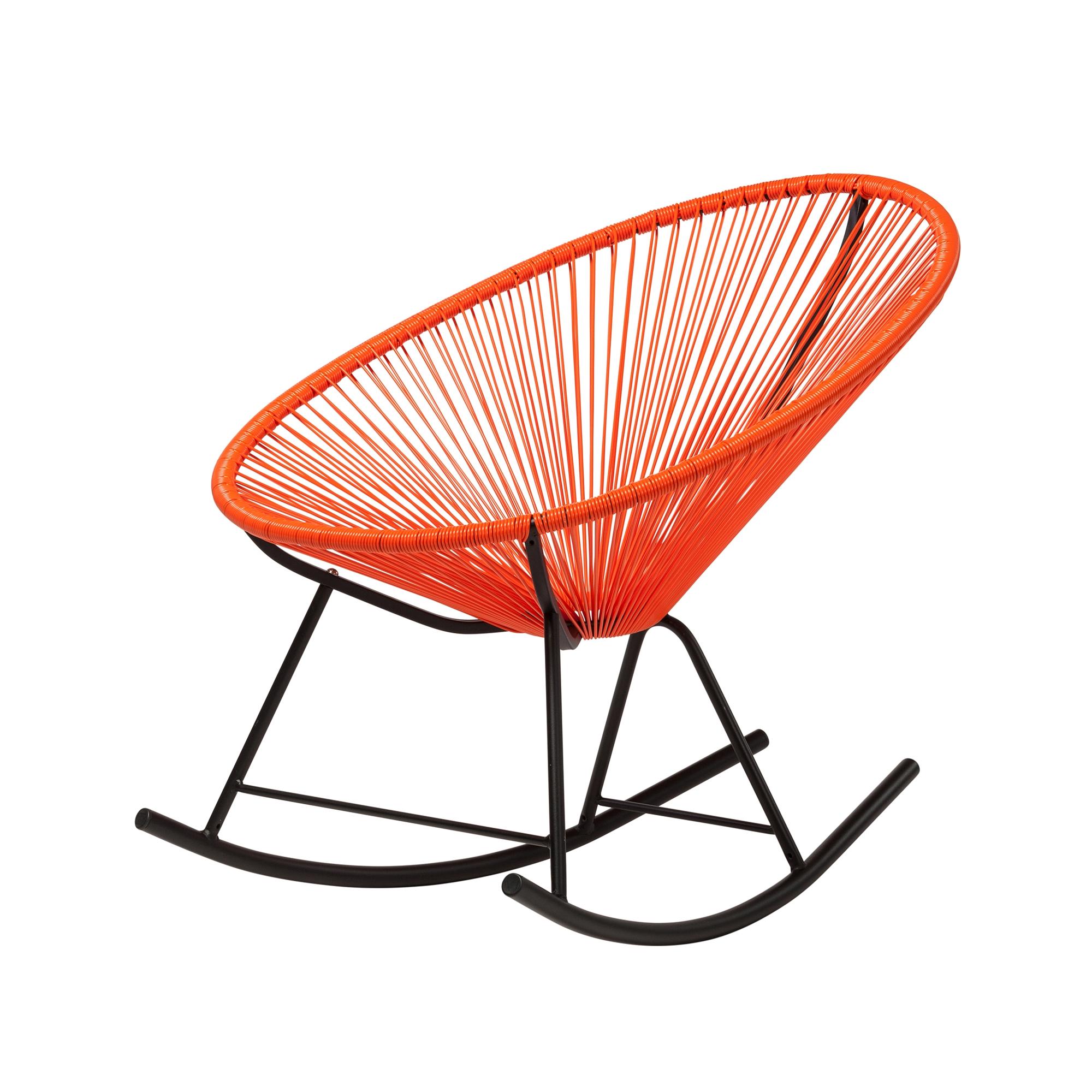Magnificent Acapulco Indoor Outdoor Rocking Chair In Orange Unemploymentrelief Wooden Chair Designs For Living Room Unemploymentrelieforg