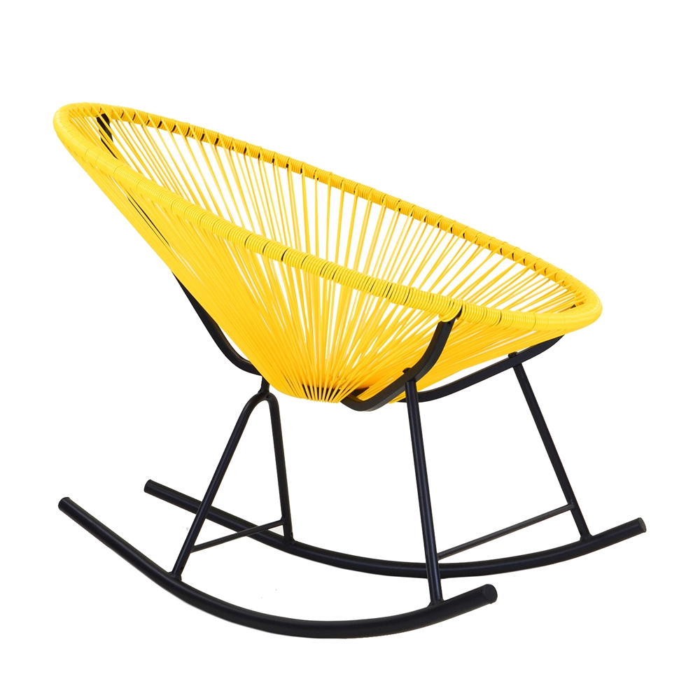 Acapulco chair leather - Acapulco Indoor Outdoor Rocking Chair In Yellow