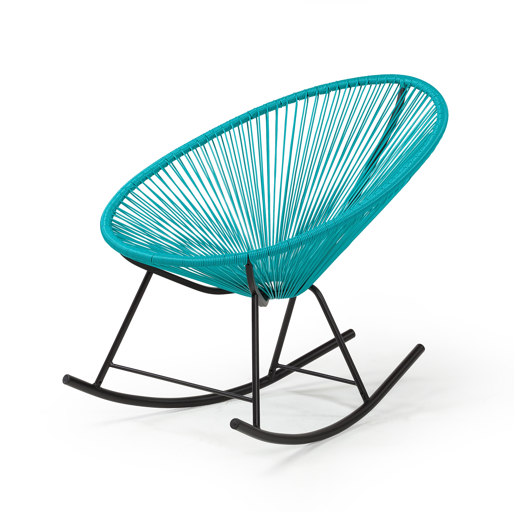 Acapulco chair outdoor - Acapulco Indoor Outdoor Rocking Chair In Blue