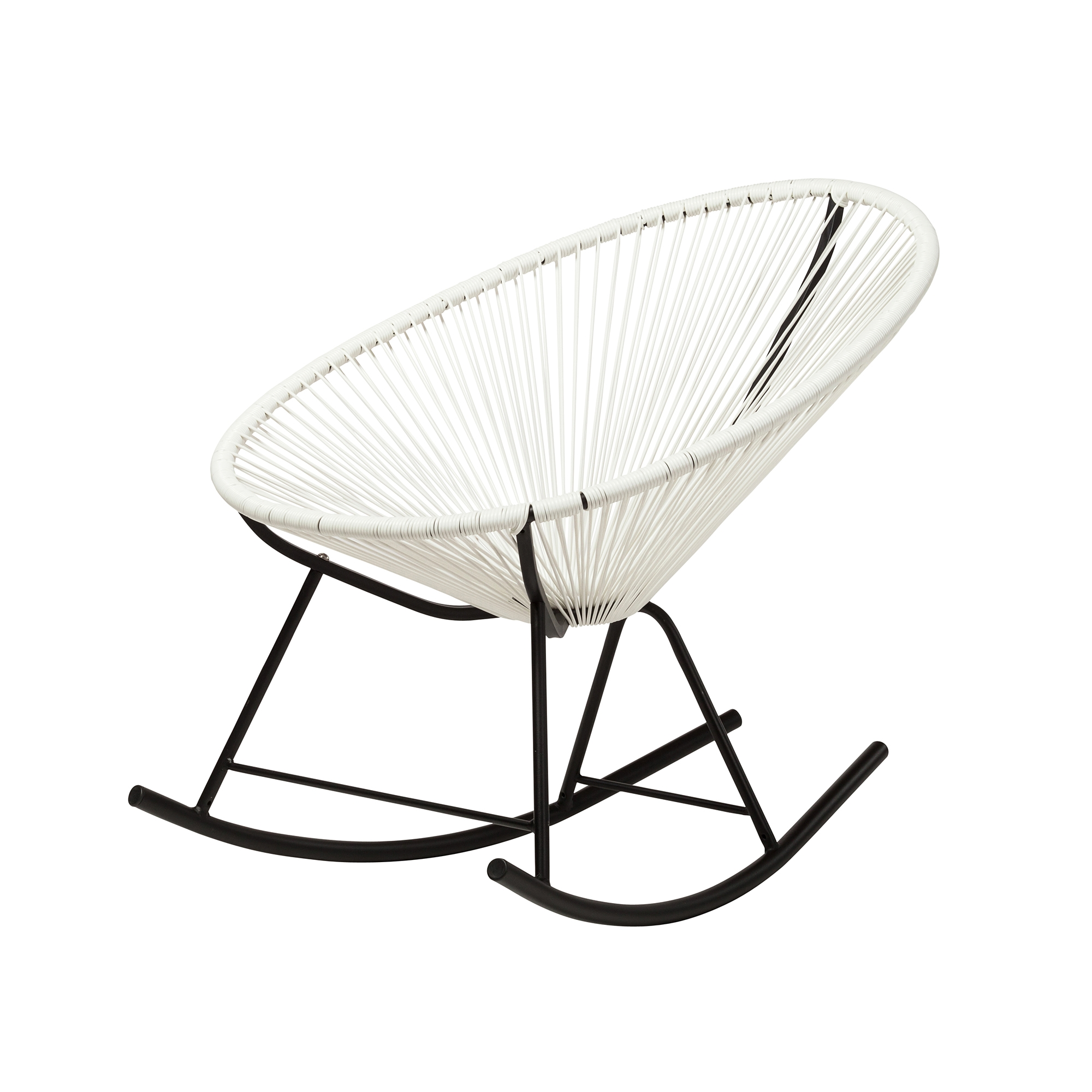 Acapulco Outdoor Rocking Chair White, The Khazana Austin Furniture