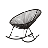 Acapulco Indoor / Outdoor Rocking Chair - Black