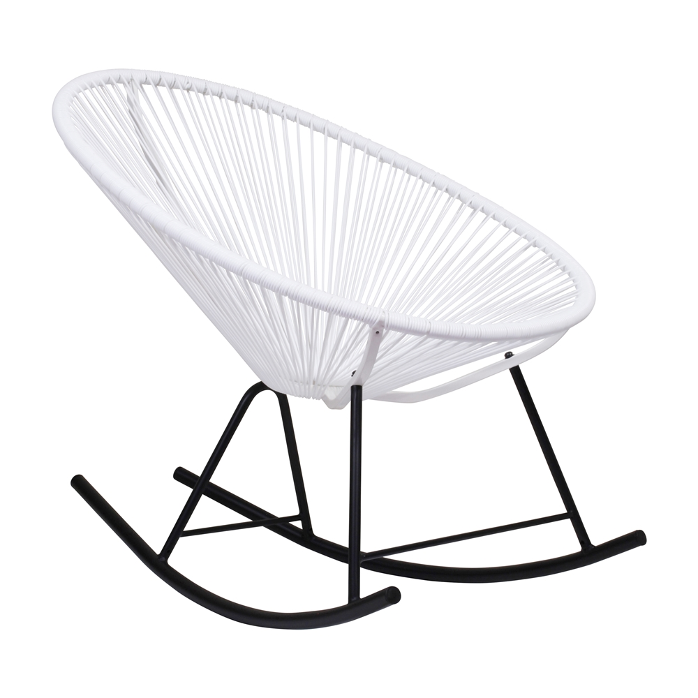white outdoor rocking chair. Acapulco Indoor / Outdoor Rocking Chair - White