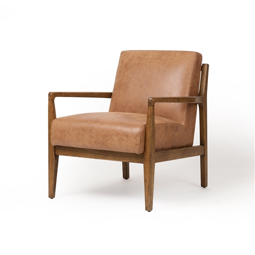 Cyrus Occasional Chair in Cognac Brown