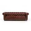 "Chesterfield 94"" Sofa - Chestnut Brown"