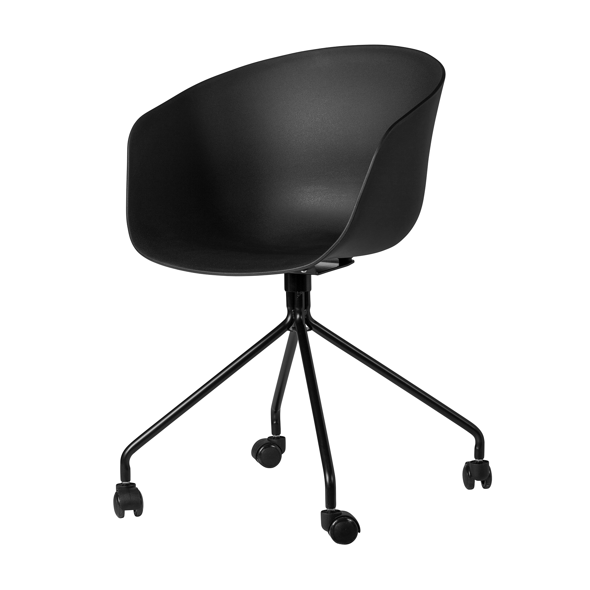 HAY About A Chair Style Office Chair Black The Khazana  : KHA CH8116Z BK 2 from www.thekhazana.net size 2000 x 2000 jpeg 599kB