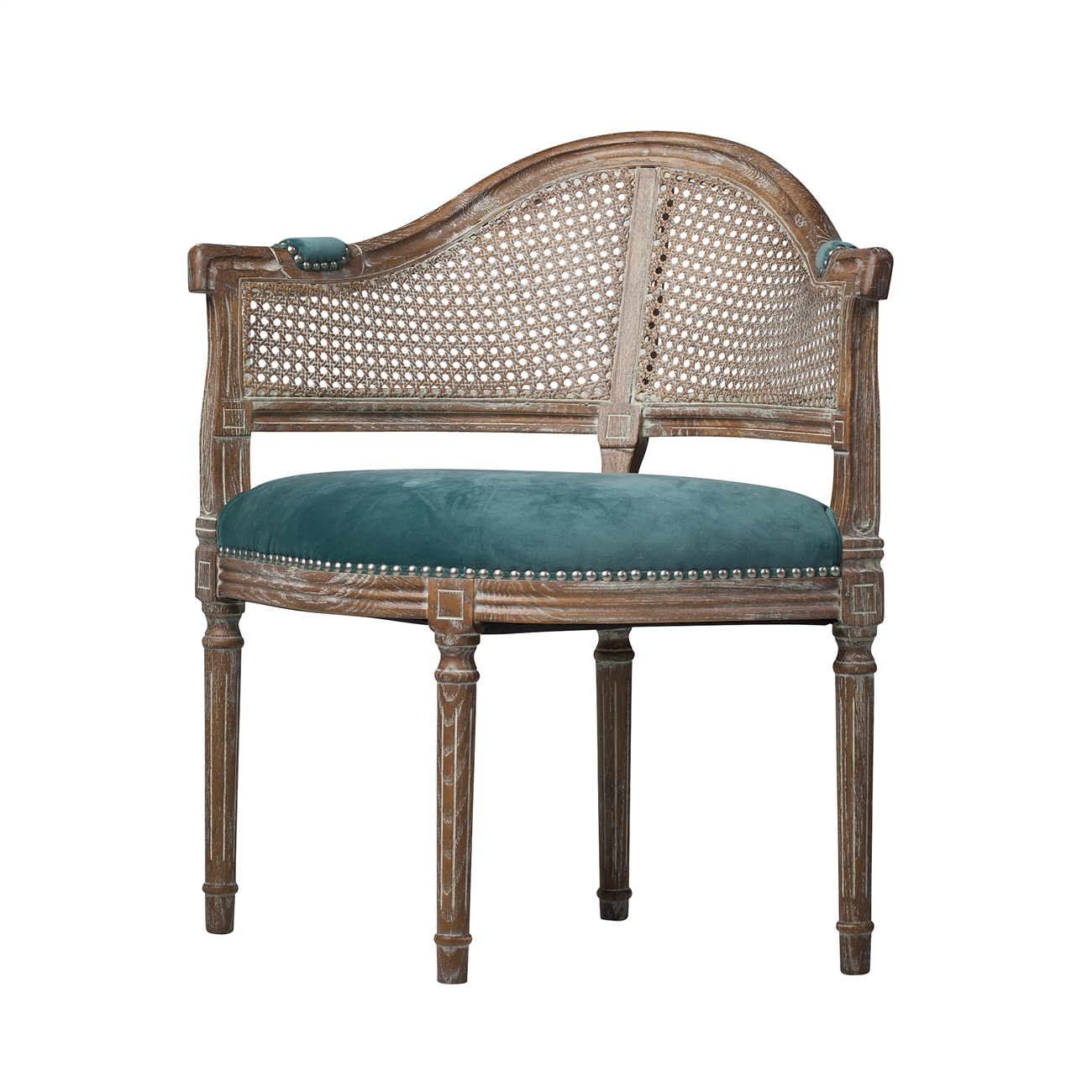 Attractive French Cane Back Occasional Chair