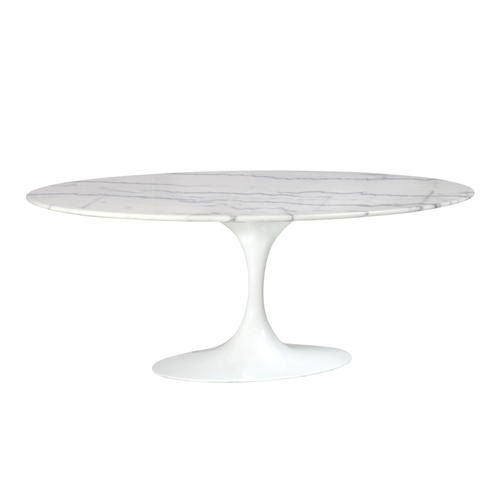 Saarinen Style Tulip Marble Coffee Table, 42""