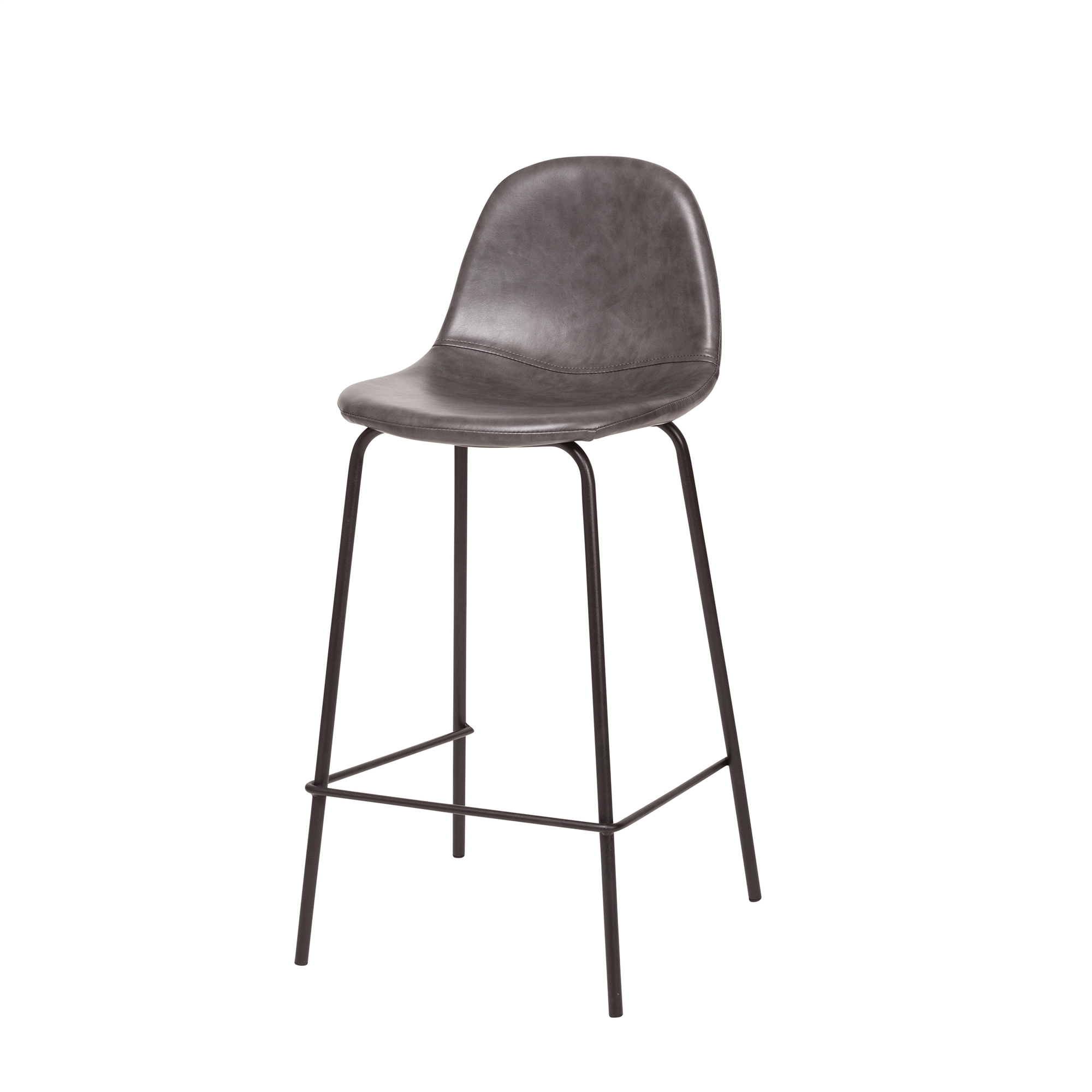 Astounding Smart Counter Stool In Distressed Grey Leather Pabps2019 Chair Design Images Pabps2019Com